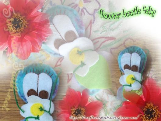 Flower Beetle Felty Wallpaper