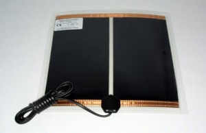 A typical heating mat for glass vivariums