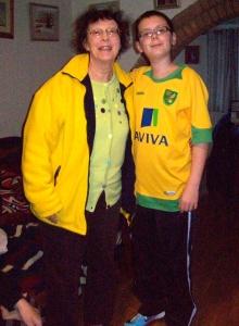 My mum and nephew