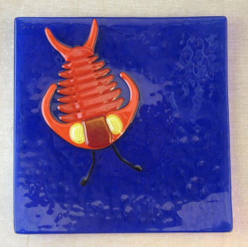 Trilobite glass dish - by Trilobite Glassworks / Jane Hartman
