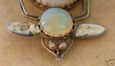 Another Art Deco beetle broach - with opal?