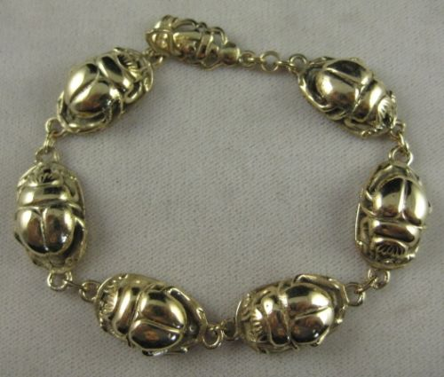 Golden Scarab bracelet