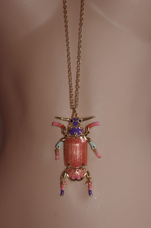 Big colourful beetle pendent necklace, from the H+M Summer 2011 Collection.